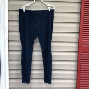 Hue women's dark blue denim jean leggings